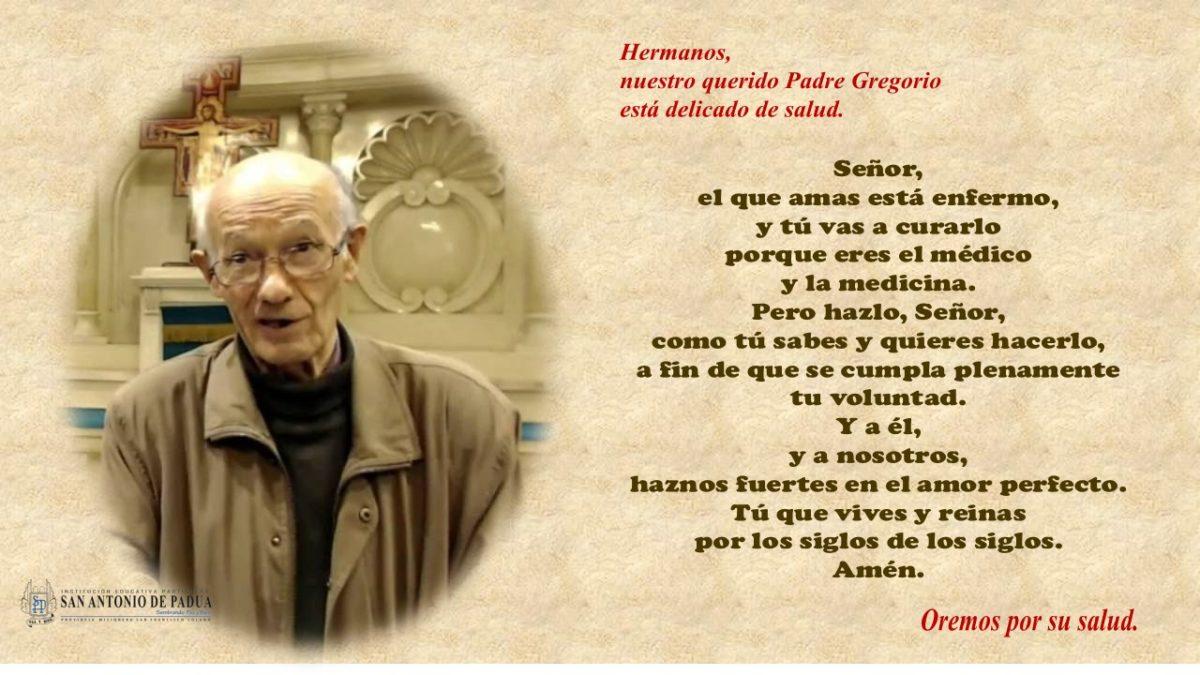 Oración por la salud de nuestro querido Padre Gregorio