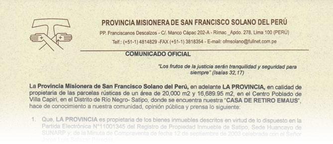 Comunicado Oficial 2018-08-11