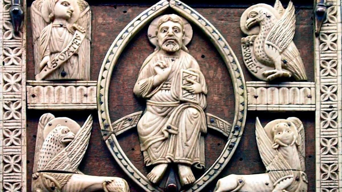Representación simbólica de los cuatro evangelistas (Tetramorfos)
