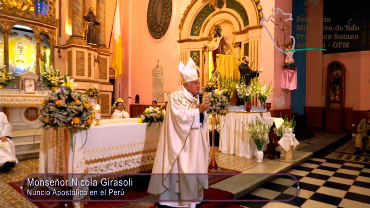 Un Santiamén: Homilía del Nuncio Apostólico en el Perú – Fiesta de San Francisco de Asís