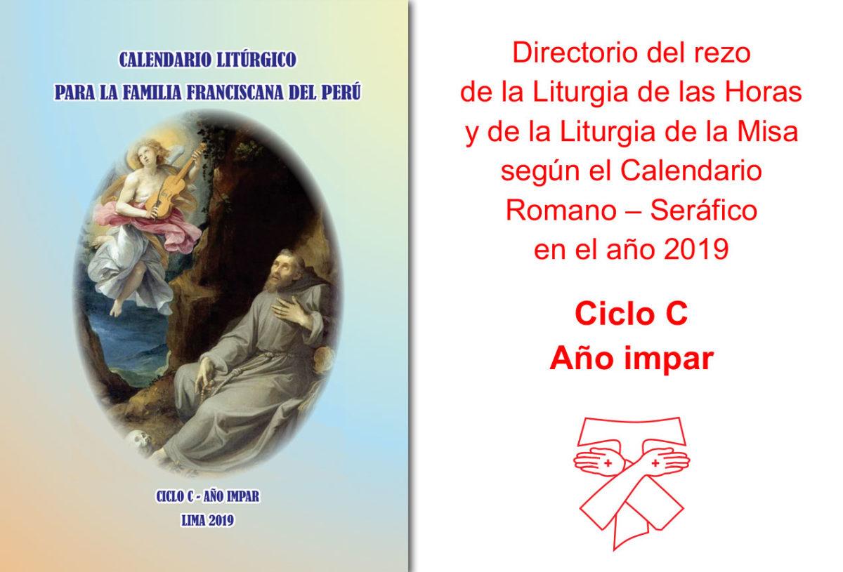 CALENDARIO LITÚRGICO 2019