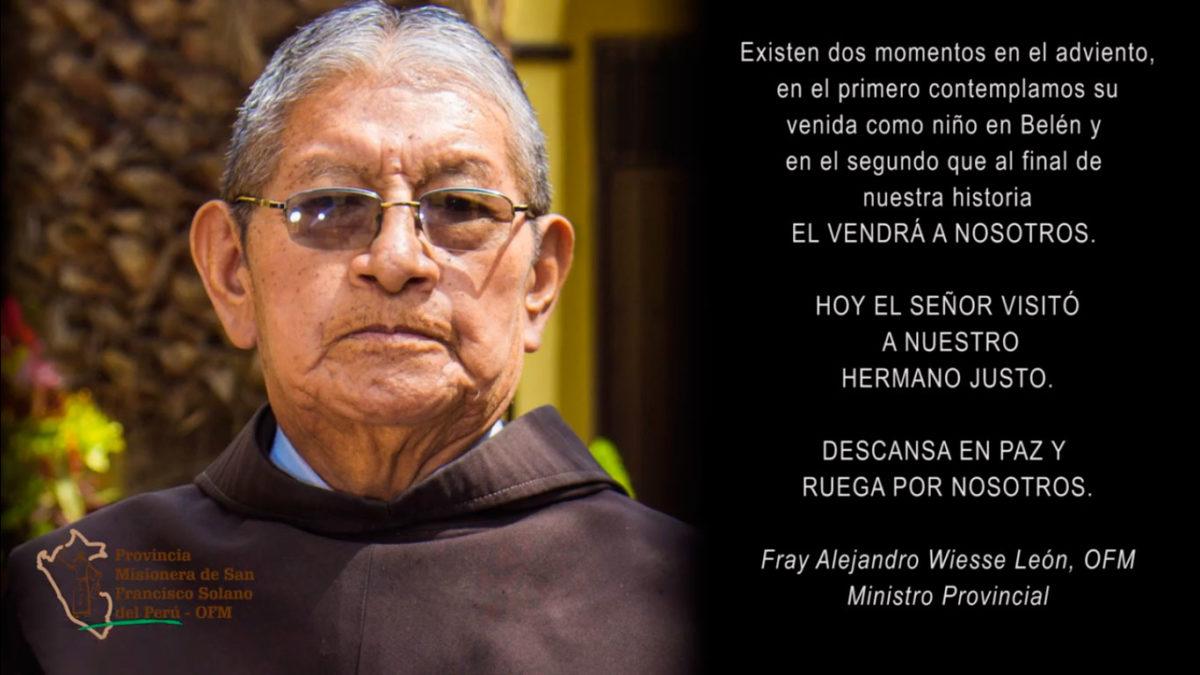 En memoria de Fray Justiniano Justo Vilca, OFM
