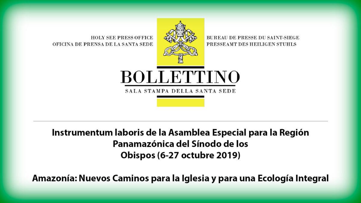 Instrumentum Laboris para el Sínodo de la Amazonía
