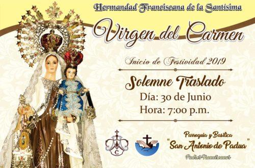 Solemne traslado de la imagen de la Santísima Virgen del Carmen – Chiclayo