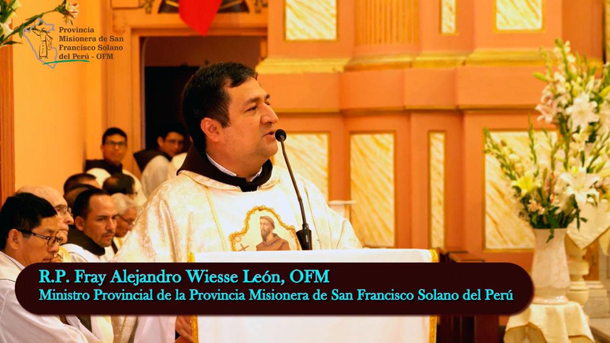 Mensaje de nuestro Ministro Provincial, Fray Alejandro Wiesse, OFM