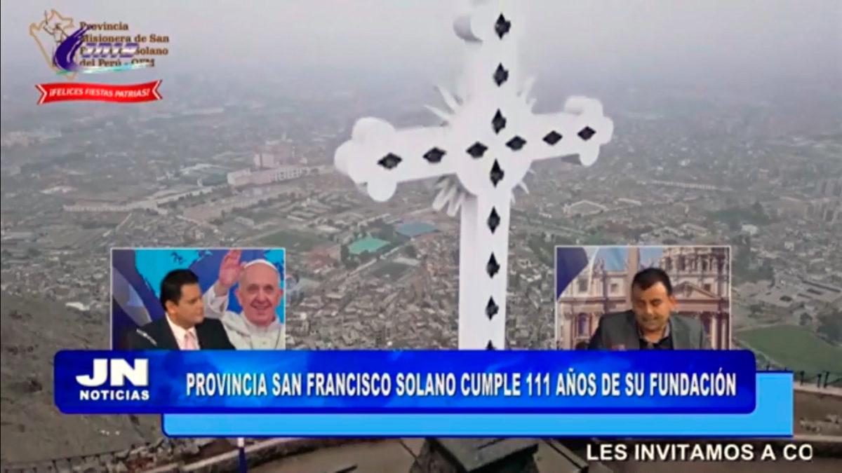 Entrevista canal JN19 TV – 111 aniversario – San Francisco Solano Perú