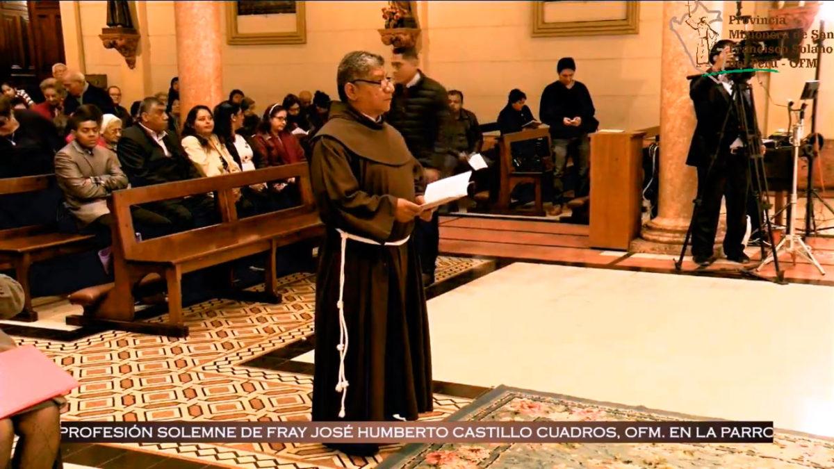 Profesión Solemne de Fray José Humberto Castillo Cuadros, OFM