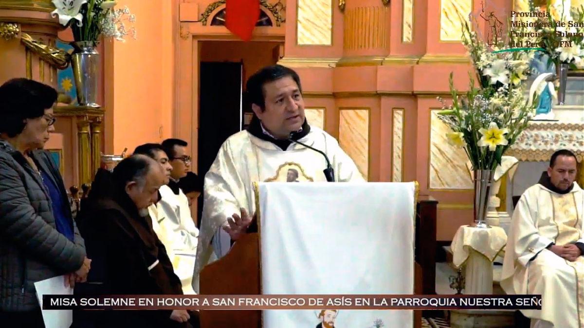 Homilía de Fray Alejandro Wiesse León, OFM – octubre 4, 2019