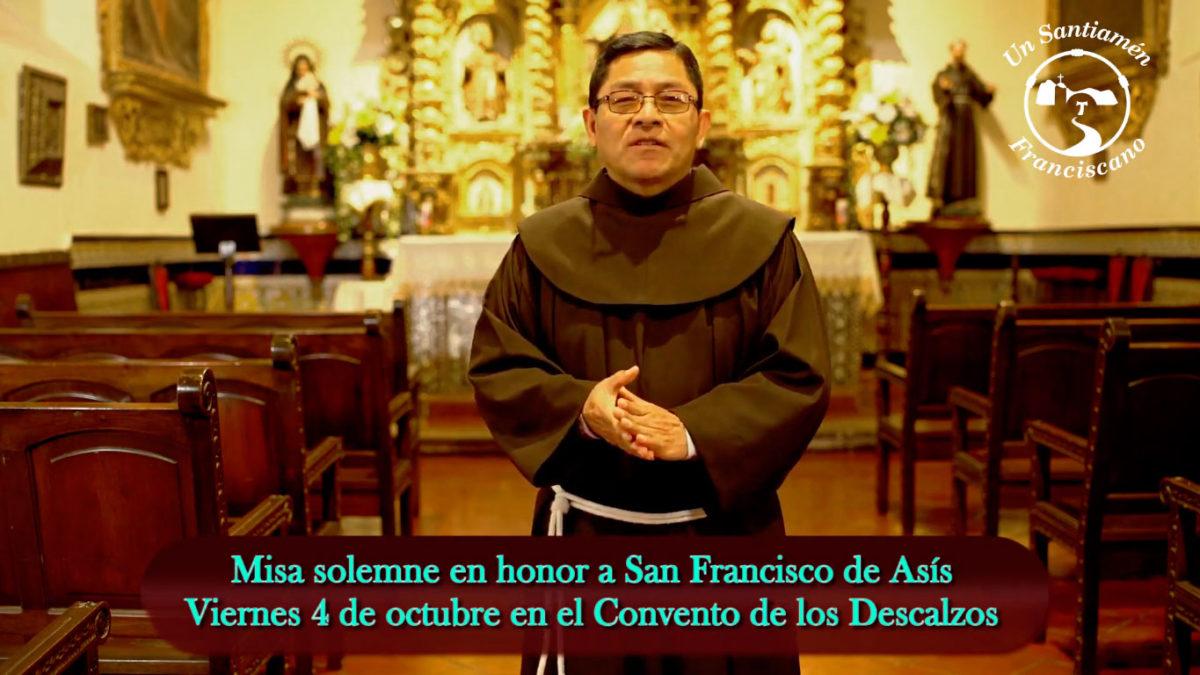INVITACIÓN: Misa Solemne en Honor a San Francisco de Asís