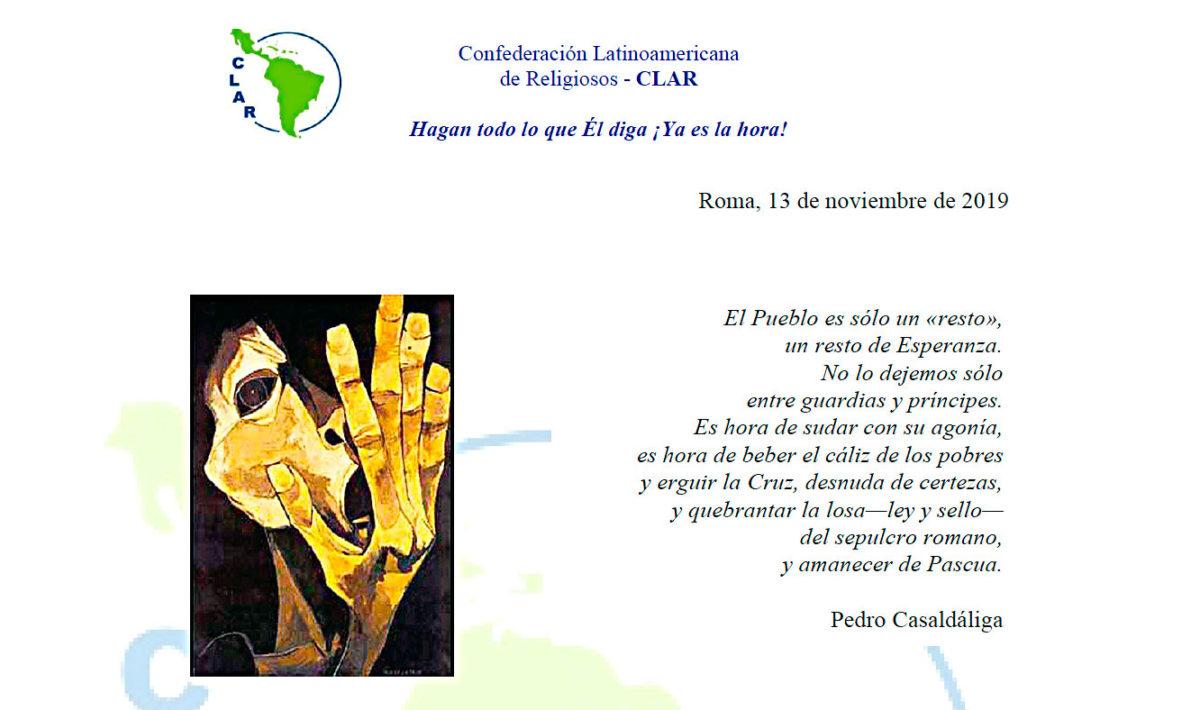 Vigilia de Oración – Confederación Latinoamericana de Religiosos (CLAR)