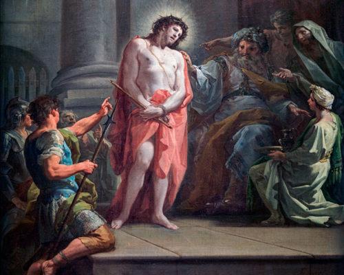 Pilatos interroga a Jesús