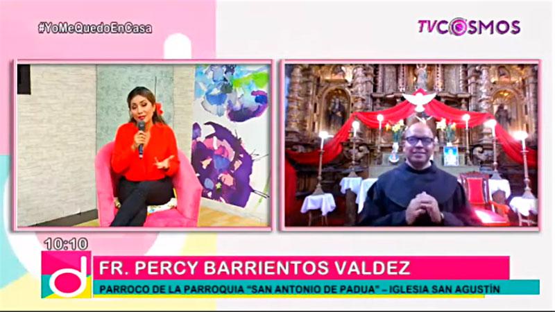 Fray Percy Barrientos, OFM, en Cosmo TV