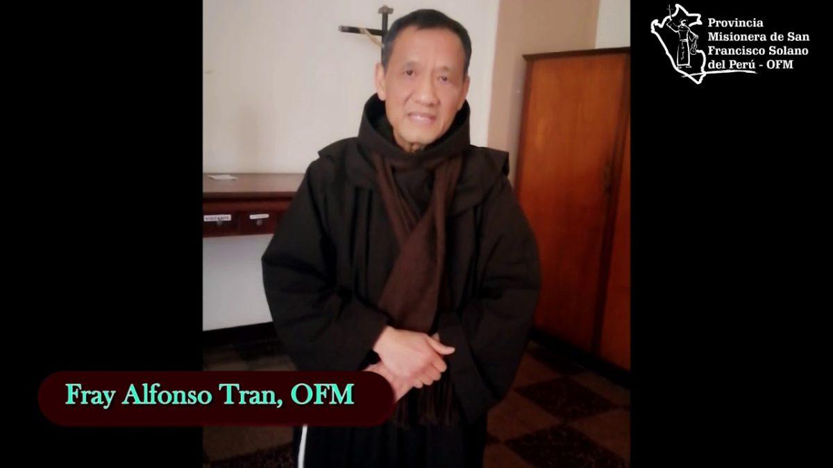 Saludo de nuestro hermano Fray Alfonso Tran, OFM