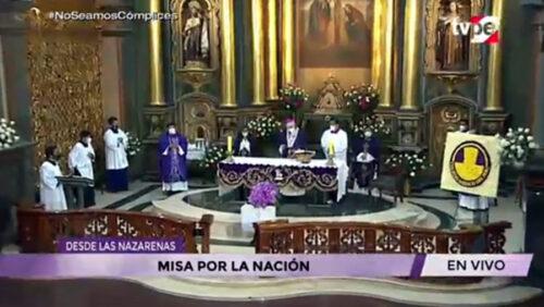 Misa por el Señor de los Milagros, la familia Franciscana y por la Nación