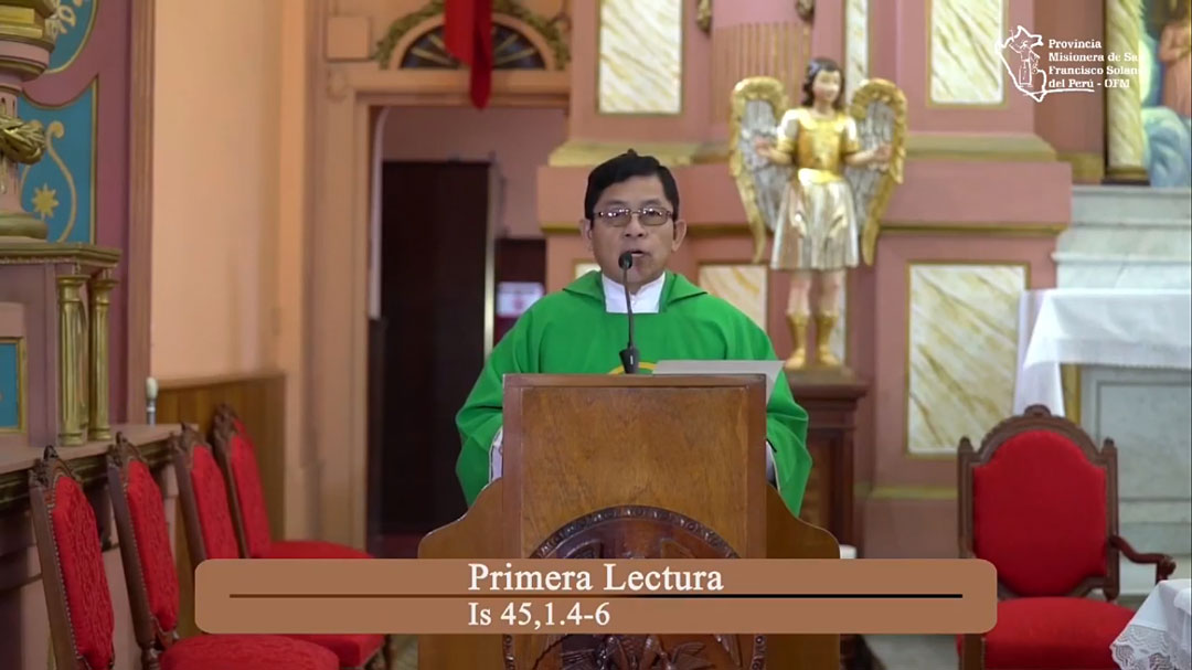 Santa Misa – Domingo XXIX del Tiempo Ordinario – 7pm