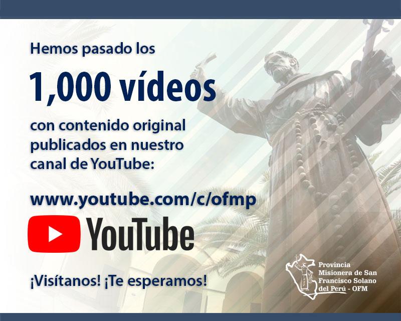 HEMOS SUPERADO LOS 1,000 VIDEOS