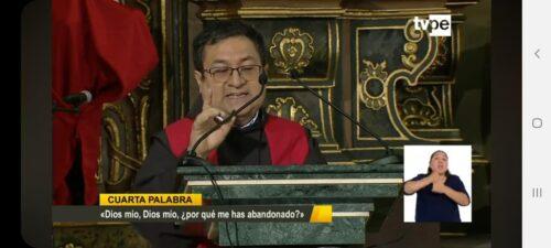 Fray Alejandro Wiesse, OFM participó en el Sermón de la 7 Palabras