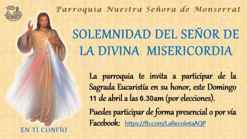 Solemnidad del Señor de la Divina Misericordia – Arequipa