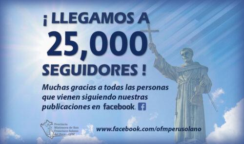FACEBOOK: ¡LLEGAMOS A 25,000 SEGUIDORES!