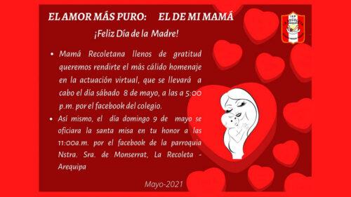 Día de la Madre – Colegio La Recoleta, Arequipa