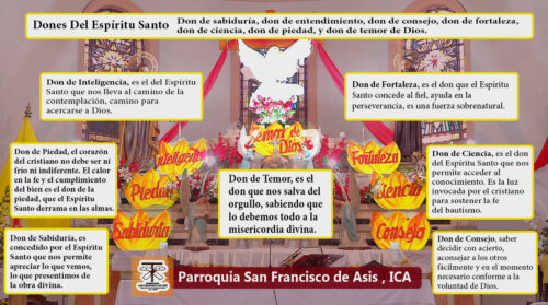Ica: los 7 dones del Espíritu Santo