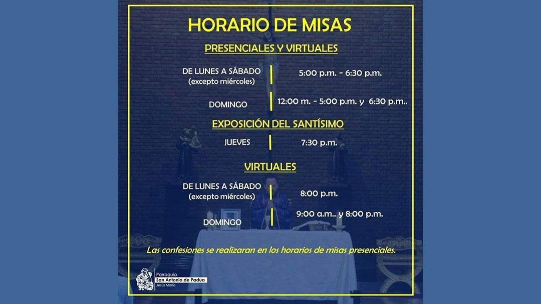 Actividades Litúrgicas: Parroquia San Antonio de Padua