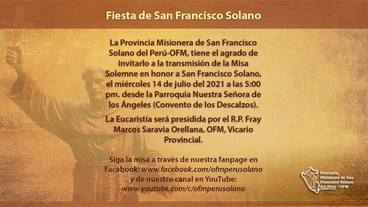 Misa Solemne en Honor a San Francisco Solano
