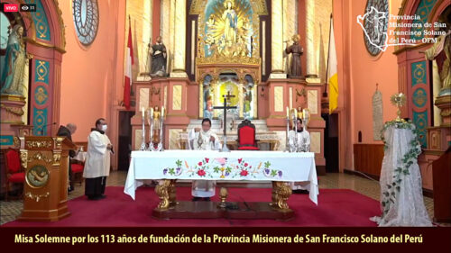 Misa Solemne: fiesta de San Francisco Solano