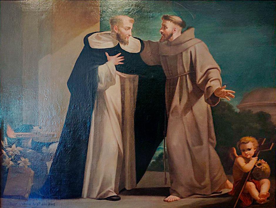 Encuentro de San Francisco de Asís y Santo Domingo de Guzmán