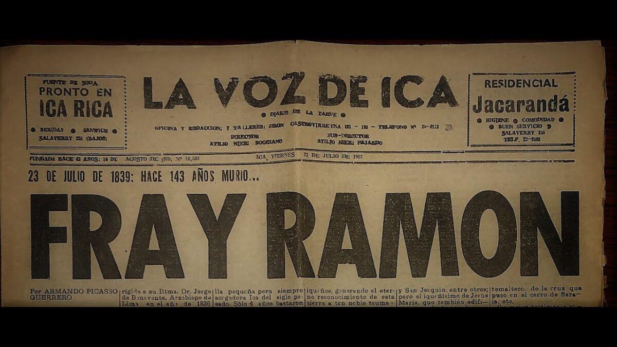 Breve adelanto: Fray Ramón Rojas