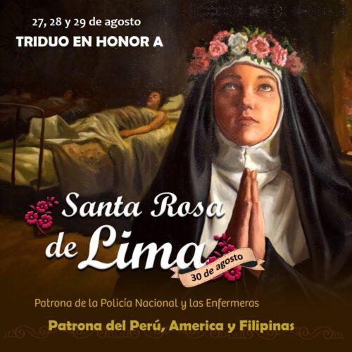 Triduo en honor a Santa Rosa de Lima