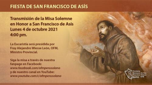 Misa Solemne en Honor a San Francisco de Asís