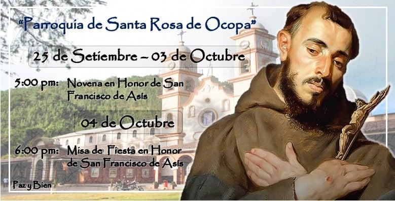 Ocopa: Celebraciones en Honor a San Francisco de Asís