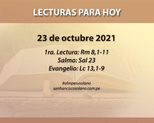 Lecturas del día: 23 de octubre 2021